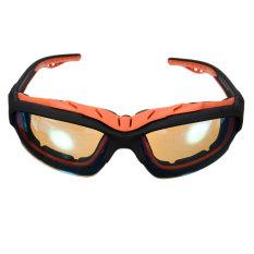 Outdoor Olahraga Bersepeda Sepeda Sepeda Berkendara Sun Kacamata Kacamata UV400 Lens Black Frame Lensa Kuning (Intl)