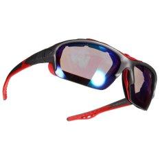 Olahraga Luar Ruangan Bersepeda Sepeda Naik Sepeda Kacamata Matahari Eyewear Melotot UV400 Lensa Merah Bingkai Biru Lensa