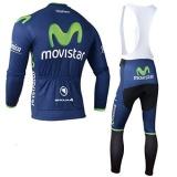 Promo Olahraga Luar Ruangan Tim Pro Pria Lengan Panjang Movistar Bersepeda Jersey Dan Bib Celana Set L Intl Akhir Tahun