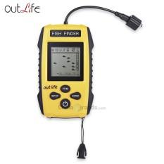 Outlife 0.7-100 M 200 KHz Ikan Sonar Pencari Transduser Alarm-Intl