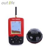 Jual Outlife Portable Fish Finder Dengan Nirkabel Sonar Sensor Lcd Display Intl