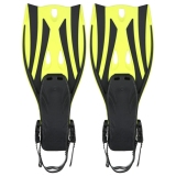 Jual Sepasang Gelombang Snorkeling Sirip Tumit Terbuka Flippers Ukuran S M Kuning Intl