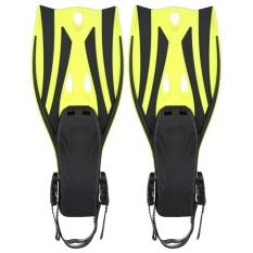 Review Sepasang Gelombang Snorkeling Sirip Tumit Terbuka Flippers Ukuran S M Kuning Intl Di Tiongkok