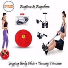 Toko Jual Paket Alat Fitnes Tummy Trimmer Nikita Jogging Magnetic Trimmer Body Plate