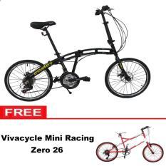 Paket Bundling Sepeda Lipat Vivacycle Comet 18Sp + Mini racing Zero 26 7Sp - Khusus JADETABEK.