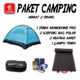 Harga Paket Camping Pendaki 2 Orang Hemat Tenda Matras Sleeping Bag Lentera New