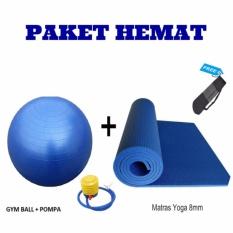 Jual Paket Hemat Gym Ball Dan Matras Yoga Satu Set
