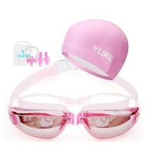Paket Kacamata Renang + Topi Renang WARNA PINK