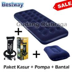 Paket Kasur Angin Single Bestway + Pompa + Bantal