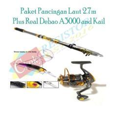 Paket Pancingan Laut Joran Yuelong 2.1m Plus Reel Debao DB3000A