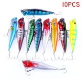 Diskon Palight 10 Pcs Popper Memancing Umpan Crankbaits Baits Tackle Ikan Kecil Bass Umpan Kit Palight