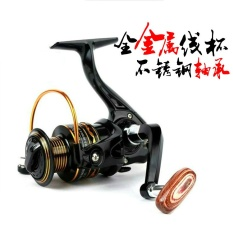 PALIGHT 12 + 1 Bearing Logam Spool Surf Casting Spinning Seri Metal Rocker Reel Fly Fishing Line Roda