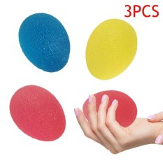 Beli Palight 3 Pcs Fitness Silicone Egg Hand Gripper Muscle Strength Stress Relief Power Ball Forearm Finger Training Equipment Intl