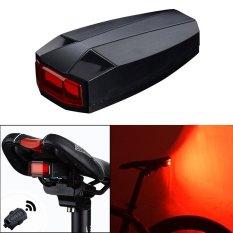 PAlight 4 in 1 Sepeda Smart nirkabel belakang lampu Bersepeda Remote Control Alarm Lock Mountain Bike Bell tongkol Tailight