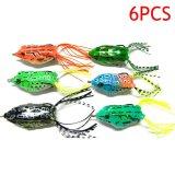 Spesifikasi Palight 6 Pcs 5 5 Cm 12 G Memancing Umpan Bass Lembut Katak Crankbaits Top Air Ikan Mengatasi Hook Buatan Umpan Terbaik