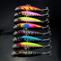 PAlight 8 buah Umpan Pancing Minnow Wobbler 8.5CM /7.2G Umpan Keras untuk Memancing Tackle Bass / Trout Bait - intl