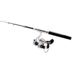 PALIGHT Mini Pocket Fishing Rod Teleskopik With Gulungan Tali Nilon Yang Ditetapkan (Hitam)