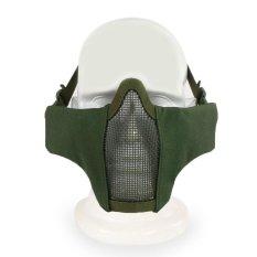 Toko Palight Outdoor Olahraga Menghadapi Airsoft Masker Logam Mesh Net Baja Wajah Setengah Pelindung Masker Yang Bisa Kredit