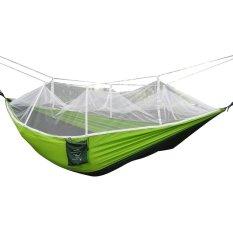 Spesifikasi Parasut Kain Kuat Outdoor Camping Hammock Menggantung Tenda Bed With Kelambu 2 Orang Yang For Hiking Camping Travel Beach Yard Hijau Vococal Terbaru