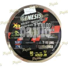 PE1 0.14mm 20lb 100M Duraflex Genesis PE 1 X8 Senar Pancing Nilon Tali Umpan Joran Pancingan Mancing Mania Air Laut Tawar Makanan Makan Pakan Ikan Multi Warna Colour