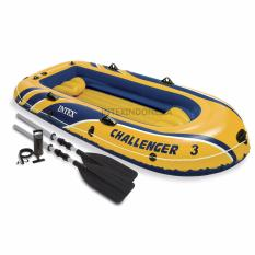 Perahu Karet Intex Challenger 3 Boat Set 68370Np Yellow Asli