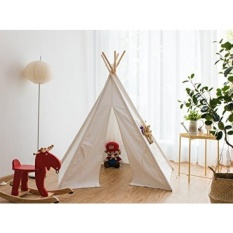 Pericross 5 Panel Tenda Teepee Anak Indian Play Tenda Childrens Playhouse untuk Outdoor dan Indoor Play (5-Panel Putih) -Intl