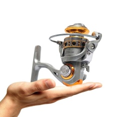 Pocket Fishing Reel 12+1 Ball Bearing Left/Right Mini Spinning Reel with Folding Metal Rocker DC150 - intl