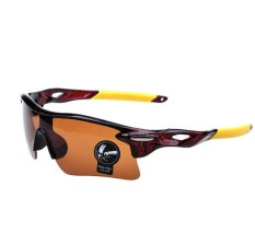 Jual Polarized Anti Glare Collection Sunglasses Kacamata Sepeda Bicycle Glasses Mtb Uv 400 Coklat Kuning Termurah