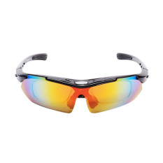 Harga Polarized Cycling Outdoor Sports Bicycle Sunglasses With 5 Exchangeable Lens Yang Murah