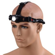 Police Headlamp Cree LED Rechargeable - Senter Kepala JS 0181 - Hitam