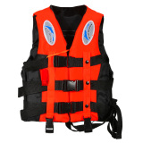 Beli Polyester *d*lt Life Jacket Universal Swimming Boating Orange S Oem Asli