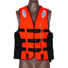 Polyester Jaket Keselamatan Dewasa Universal Berenang Perahu (Oranye XXL)