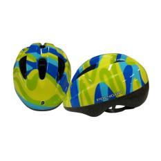 Jual Polygon Helm Anak Wave Hijau Biru Branded Murah