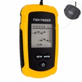 Portable Fish Finder Fishfinder With Wired Sonar Sensor Transducer And Lcd Display Intl Oem Diskon