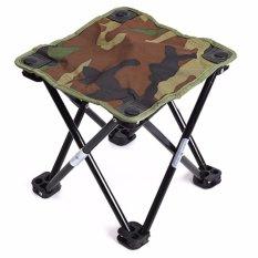 Portable Aluminium Lipat Outdoor Bangku Kursi Memancing Camping Travel Piknik-Intl