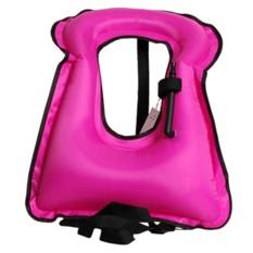 Iklan Portable Inflatable Life Vest Bright Coloured Safety Lifejacket Buoyancy Vest Snorkel Vest For Kids *d*lt Intl