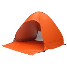 Ulasan Portable Outdoor 2 3 Persons Quick Automatic Pop Beach Tent Camping Orange Intl