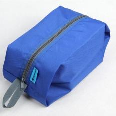 Portable Waterproof Nylon Travel Pouch Olahraga Gym Shoe Wash Bag Zipper Toiletry Tas Penyimpanan Kosmetik Organizer Warna: Royal Blue Keterangan: Royal Blue