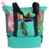 Spesifikasi Portable Tas Bahu Tahan Air Tas Pendingin Terisolasi Makanan Piknik Beach Mesh Bags Intl Oem Terbaru
