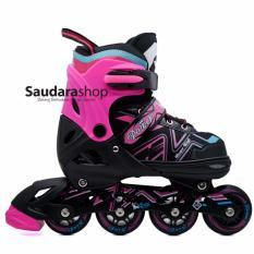 Toko Power King Sepatu Roda Inline Skate Pink Sepaturoda Inlineskate Roda Full Karet Pink Termurah