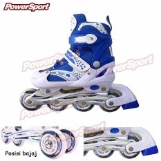 Power Sport in Line Skate Sepatu Roda 2 in 1 - 2 Variasi Roda - Biru