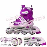 Spesifikasi Power Sport In Line Skate Sepatu Roda 2 In 1 Adjustable Wheel L 38 42 Ungu Lengkap