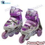 Spesifikasi Power Sport In Line Skate Sepatu Roda 2 In 1 Adjustable Wheel S 29 33 Ungu Terbaru