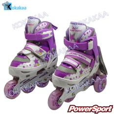 Spesifikasi Power Sport In Line Skate Sepatu Roda 2 In 1 Adjustable Wheel S 29 33 Ungu Lengkap