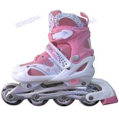 Diskon Besarpower Sport In Line Skate Sepatu Roda Pink