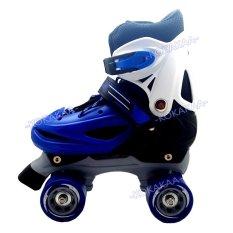 Harga Power Sport Roller Skate Sepatu Roda 4 Biru Yg Bagus