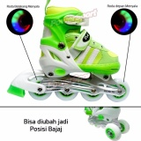 Spesifikasi Power Sport Two Stripes 5000 Aosite Inline Skate Sepatu Roda 2 In 1 Adjustable Wheel S 29 33 Terbaru