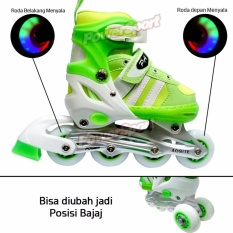 Power Sport Two-Stripes  5000 Aosite inLine Skate Sepatu Roda 2 in 1 Adjustable Wheel - S ( 29 - 33 )
