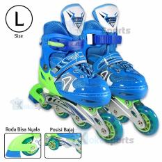 Harga Power Sport Two Stripes 8000 Aosite Inline Skate Sepatu Roda 2 In 1 Adjustable Wheel L 38 42 Lengkap