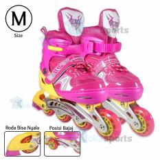 Harga Power Sport Two Stripes 8000 Aosite Inline Skate Sepatu Roda 2 In 1 Adjustable Wheel M 34 37 Seken
